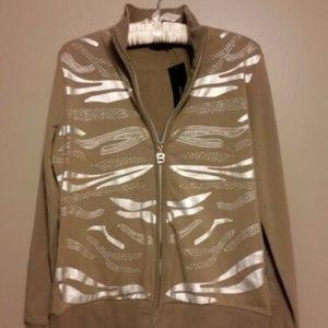 NWT BCBG Maxazria Sweatshirt Zip Top Jacket
